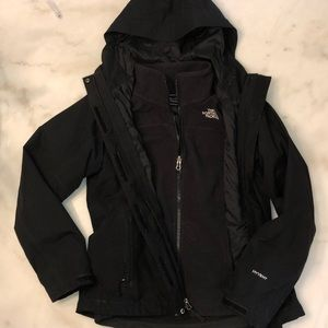 North Face two lined waterproof jacket
